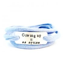 Giving up = no option armband
